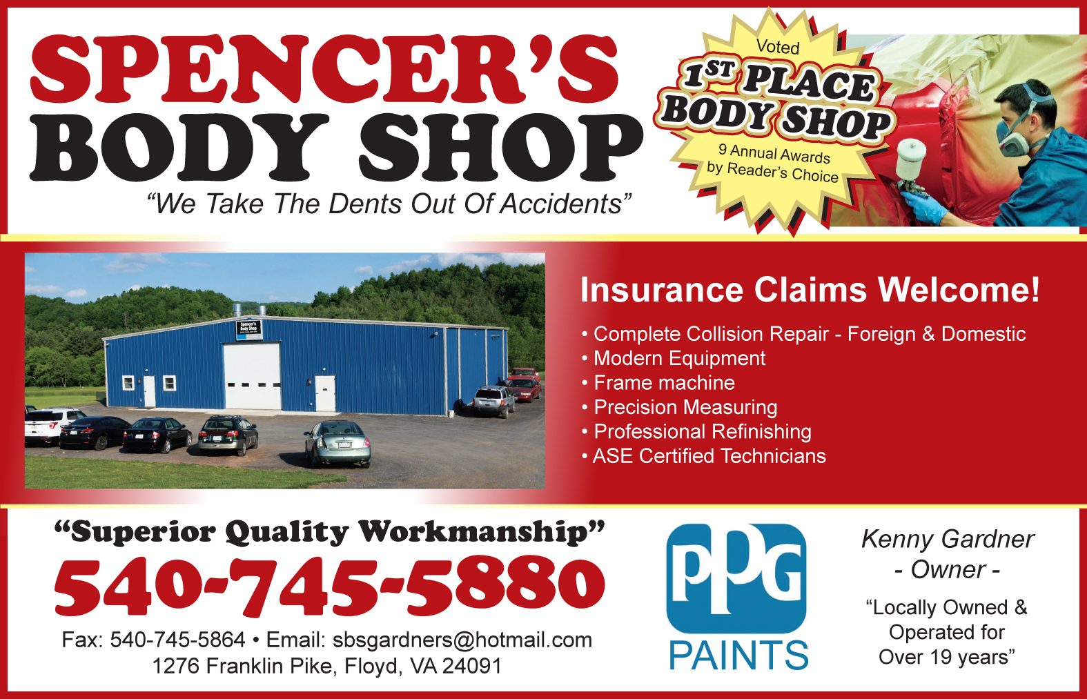 Spencers Body Shop | Floyd Virginia Magazine